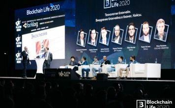 Blockchain Life 2020 Forum in Moscow, Russia